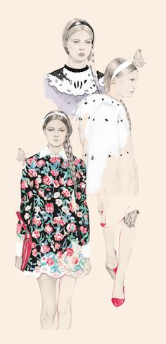 Valentino Fall 2013 Collection by Hyeeun Kim, via Behance