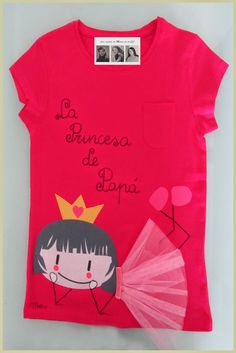 Camiseta princesa de papá