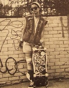 Female skate punk 1980's