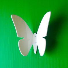 Objectify Butterfly Wall Hook by ObjectifyHomeware on Etsy