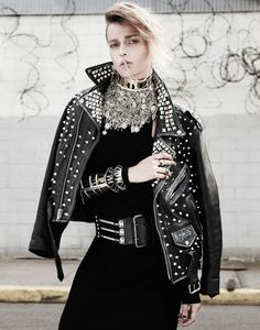 manolo campion punk4 Martha Streck Has Punk Attitude for V Magazine Shoot by Manolo Campion