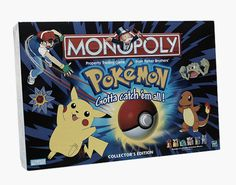 Pokemon Monopoly Board Game Collector Edition 1999 Parker Brothers for sale online Pokemon Rules, Caleb, Pokemon Gifts, Monopoly Game, Anime Nerd, Games Images, Catch Em All, Game Pieces, Baby Disney