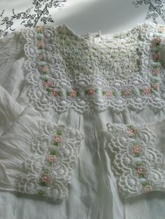 Vintage Smocked Christening Gown Lovely Detailing by Fairlyunique,