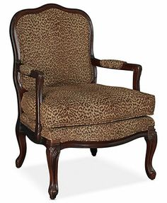 Mimi Accent Chair - Accent Furniture - furniture - Macy's from Macy's. White Dining Chairs, Small Accent Chairs, Find Furniture, Accent Furniture, Master Bedroom Plans, Breakfast Bar Chairs, Leopard Chair, White Armchair, Wrought Iron Patio Chairs