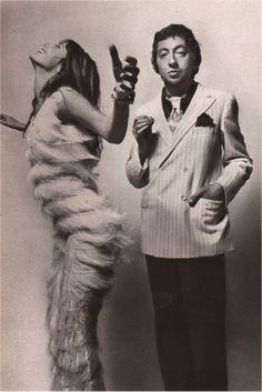 Jane Birkin & Serge Gainsbourg, shot by Guy Bourdin in 1970