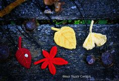 Autumn leaves from my crochet pattern.