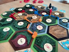 Handmade 3D Cast and Painted Catan Tiles by RoryBoardGames on Etsy
