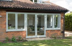 Idea, formulas, along with guide for getting the most effective result as well as attaining the optimum utilization of french doors patio French Door Curtains, French Doors Patio, Garden Room Extensions, House Extensions, French Doors With Screens, Windows And Doors, Porch Extension, Extension Ideas, Green Windows