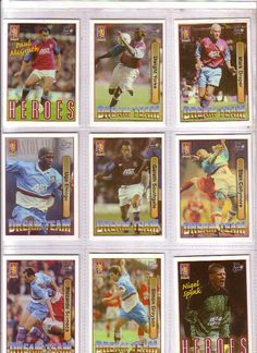 Aston Villa Stars of the 1990's Set of 9 Football Trading Cards http://www.ebesucher.com/?ref=togetherwegain