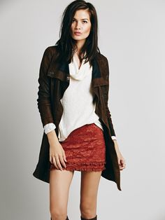 Intimately Scandalous Lace Mini Skirt at Free People Clothing Boutique