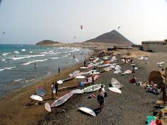 El Medano in Tenerife. This is one of my favourite places I love the hippy laid- back feel of El Medano, & the surfing is just great. #windsurfing #travel