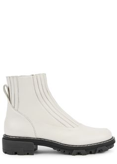 Shawn 40 off-white leather Chelsea boots Chelsea Boots Heel, Leather Chelsea Boots, Heeled Boots, Shoe Boots, Ankle Boots, Comfy Shoes, White Leather, Off White, Shopping Bag