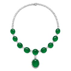 Magnificent Natural Jadeite and Diamond Pendent Necklace; and Matching Ring Estimate on Request