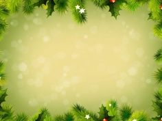Green christmas frame PPT Backgrounds