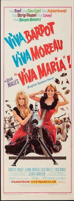 Viva Maria starring Brigitte Bardot and Jeanne Moreau. US insert poster