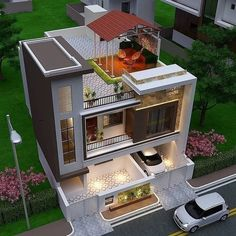 3 Storey House Design, Bungalow House Design, House Front Design, Design Your Dream House, Small House Design, Modern Bungalow, Bungalow Exterior, Modern Exterior House Designs, Modern House Facades
