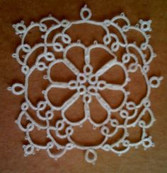 This is such a cute little motif/mini doily by Karla Barraza.