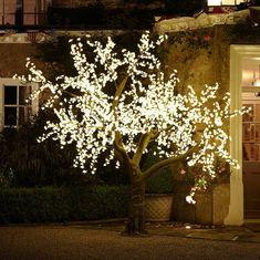 Arbol LED diseño hoja de cherry blossom
