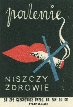Polish matchbox label by Shailesh Chavda Saul Bass, Vintage Artwork, Vintage Posters, Polish Movie Posters, Book Labels, Poster Fonts, Political Posters, Matchbox Art, Light My Fire