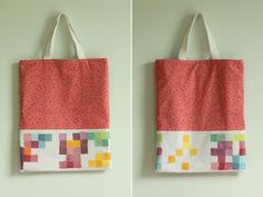 DIY: pixel painting tote bag