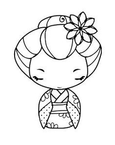 kokeshi dolls coloring pages - Google Search