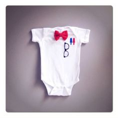 Super cute nerd baby outfit hahaha