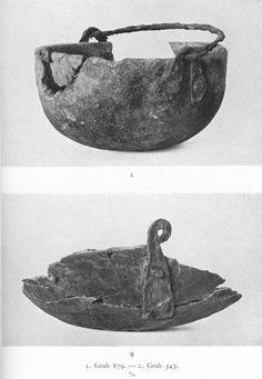 Cauldron fragments from Graves 879 and 543 at Birka.