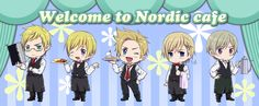 Photo of The Nordics :) for fans of Hetalia: Nordic Countries.