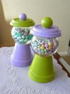 DIY Candy Jar - such a cute idea for a party