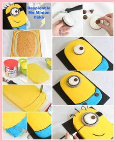 Despicable Me cake-- my birthdays coming up... Becky!!! As you have Tinsley get to work on this cake ;)