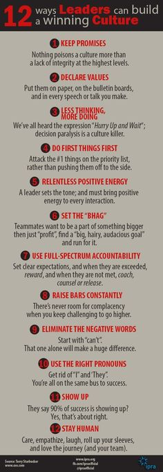 A retired Navy SEAL commanders 12 rules for being an effective leader - Business Management - Ideas of Business Management - 12 ways Leaders can build a winning culture Leadership Coaching, Educational Leadership, Leadership Development, Leadership Quotes, Professional Development, Self Development, Leadership Qualities, Leadership Activities, Effective Leadership Skills