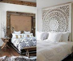 schlafzimmer ideen für rustikale bett kopfteile aus holz_gemütliches schlafzimmer einrichten im rustikalen stil
