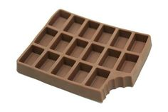 The Iced Chocolate Tray Makes Delectable-Looking Pieces of Ice #icecubes #colddrinks trendhunter.com