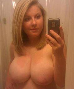 Hot big tits playing ass