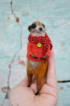 Needle Felted suricate meerkat  by Harthicune by Harthicune, $58.00
