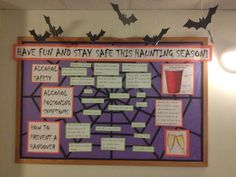 Halloween and Alcohol Safety Bulletin Board