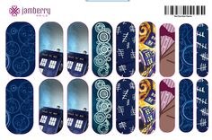 ATTN Whovians!! This is an EXAMPLE of custom Doctor Who nail wraps!!!! It's so easy, just find your favorite Doctor Who images and upload them directly to the Jamberry nail art studio!