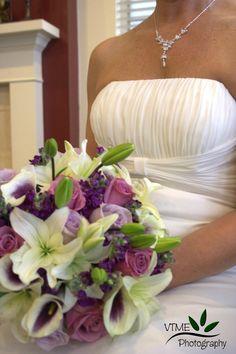 Purple & Ivory Wedding Bouquet