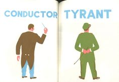 French illustrator Blexbolex's book *People*, which juxtaposes 2 apparently different different figures, side-by-side, highlighting similarities between the 2 in unexpected ways...delightful!