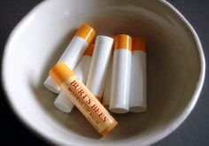 burts bees lip balm. Vici's favorite. It's worth the money to make these because we would never run out.  Plus, I could use stuff out of this recipe in other stuff I got.