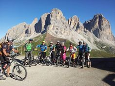 Here we are!! Fanatic Sellaronda tour bikers! Incredible fun, great outdoor experience, adrehnaline!!!