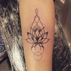 geometric lotus tattoo - Google Search