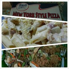 #pizza #carbonara #pasta #pansit #christmas #dinner at Lolas place! おばあちゃん家でお食事。 #food #philippines