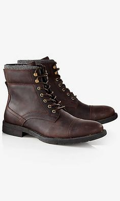 70f842e7551 padded collar lace-up boot Lace Up Boots