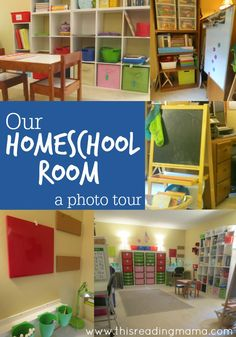 Organizing your Homeschool Room - a photo tour | This Reading Mama