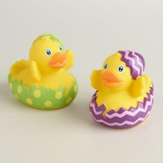 One of my favorite discoveries at WorldMarket.com: Hatching Easter Egg Rubber Duck Bath Toy