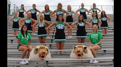 Cheerleader photo...but with coaches instead of mascots.