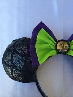 Minnie Mouse Ears Malificent Dragon on Etsy, $25.00