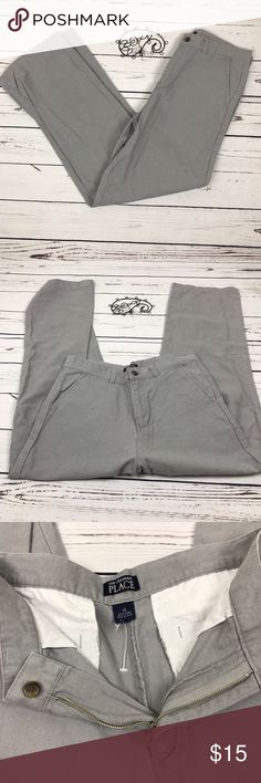 Children's Place Boys Linen Gray Pant Size 14 Children's place gray Linen pants. Size 14 EUC Children's Place Bottoms Casual