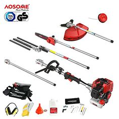AOSOME 52CC Petrol Multi Function Garden Tool - Hedge Trimmer, Strimmer, Brush Cutter, Pruner Chainsaw & Extension Pole---159.99---